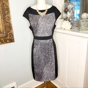 Anne Klein Black & White Sheath Dress